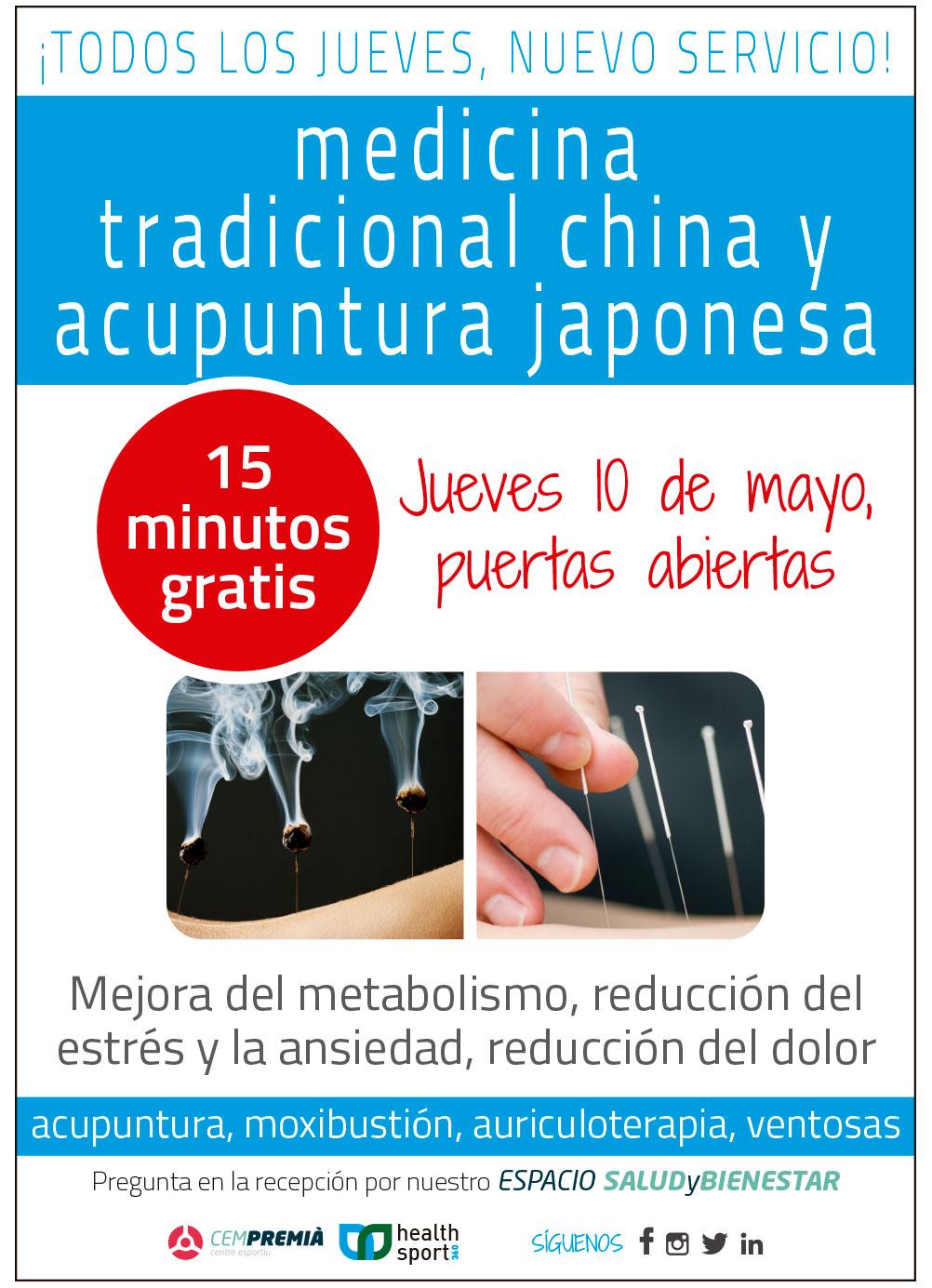 Medicina Tradicional china y acupuntura japonesa 10 de mayo